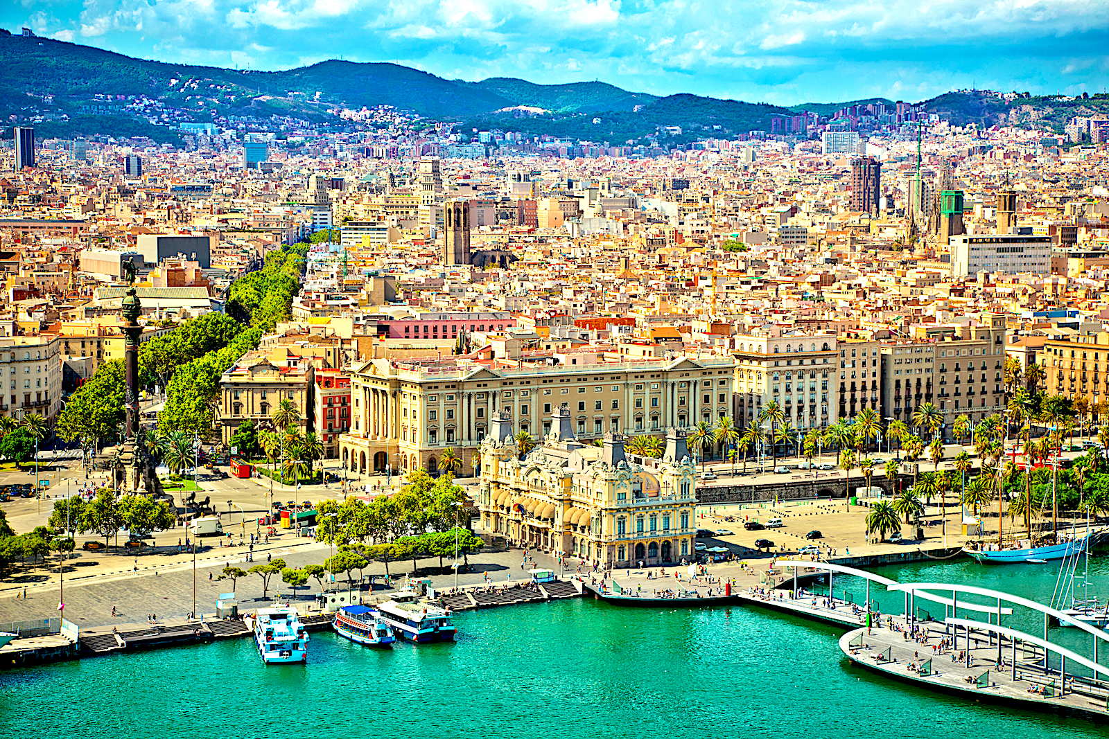 Barcelona enjoys a balmy climate on the Mediterranean
